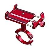 CHEREEKI Soporte Movil Bicicleta, Soporte Universal Manillar para con rotación de 360 ° Soporte de Montaje para iPhone x/6/7/8/7 Plus, Otros teléfonos Inteligentes de 3.5-6.5 '' (Rojo)