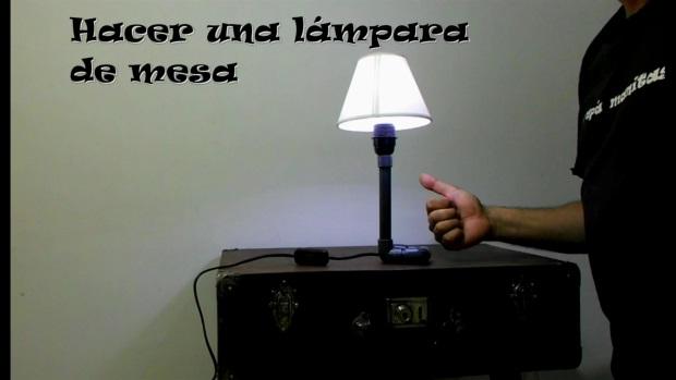 C mo hacer una l mpara de mesa con tubos de pvc paso a - Como hacer una lampara de mesa casera ...