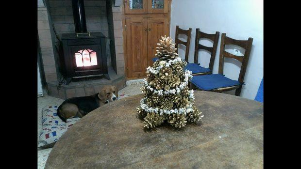 árbol casero de navidad