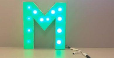 hacer letras 3d luminosas