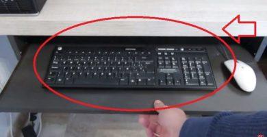 bandeja de teclado finalizada
