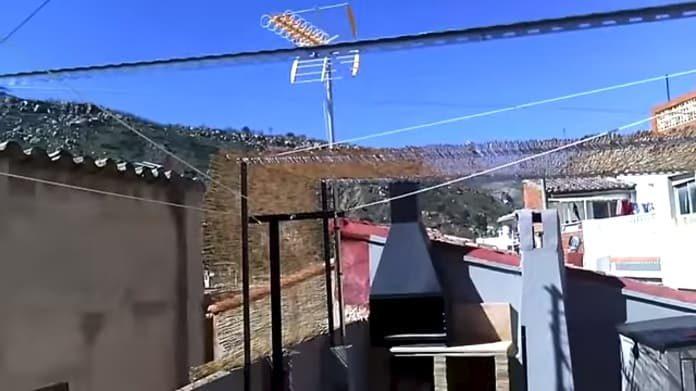como hacer un techo de cañas casero