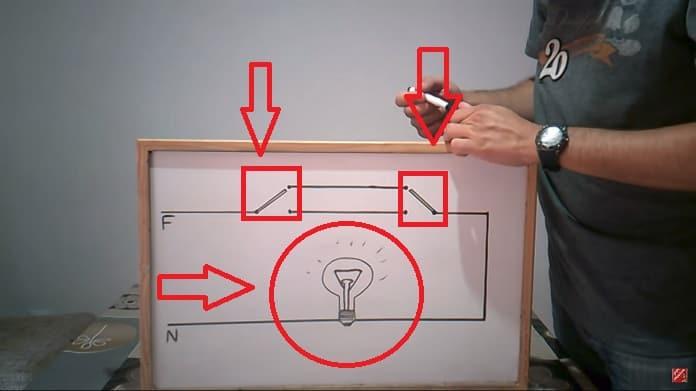 esquema de conmutador de luz