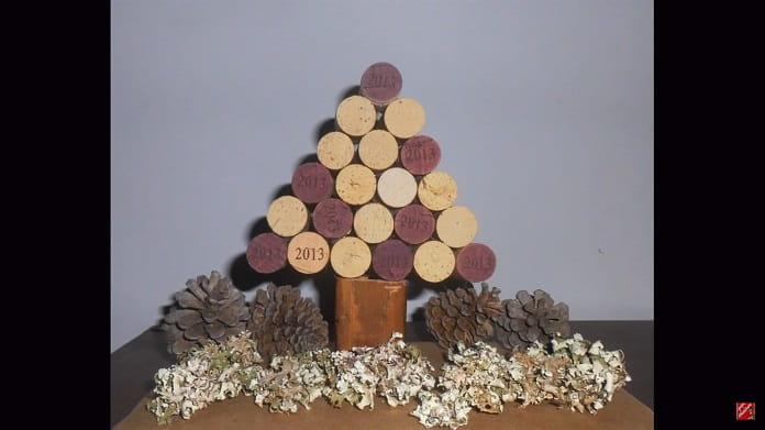árbol de navidad casero.