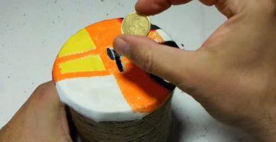 hacer una hucha casera fácil