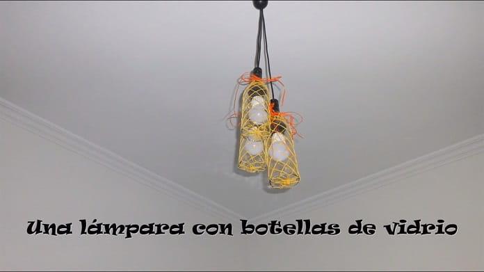 Hacer lámparas con botellas de vidrio