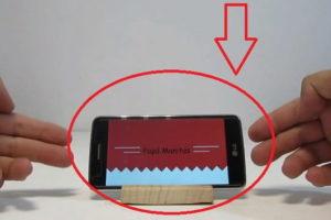 soporte para móvil casero.