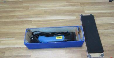 caja de herramientas de madera reciclada.