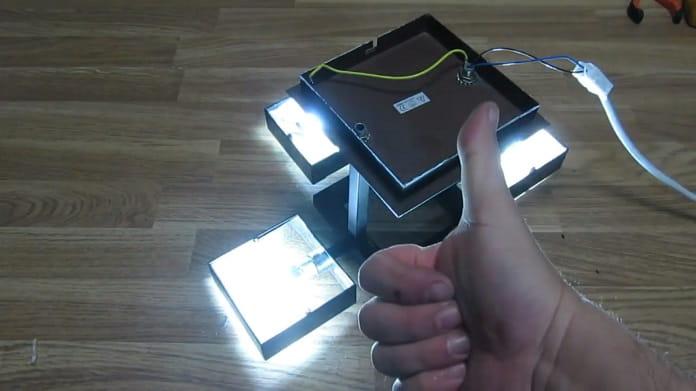 Pasos para reparar una lámpara.