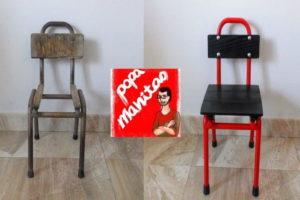 restaurar una silla de metal