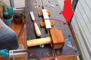 hacer un mazo de madera