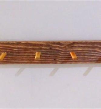 como hacer un perchero rustico de madera