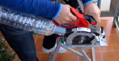 colector de polvo para sierra circular.