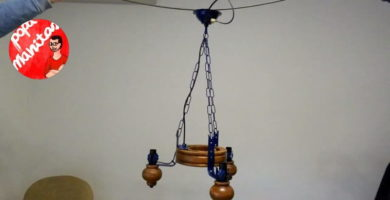 restaurar lampara techo antigua